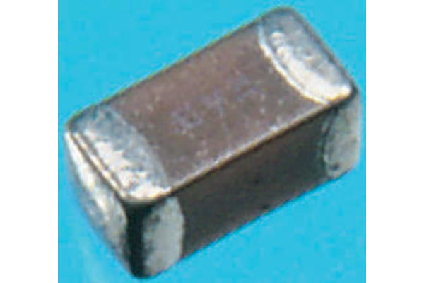 Product image for 0603 X7R ceramic capacitor, 16V 100nF