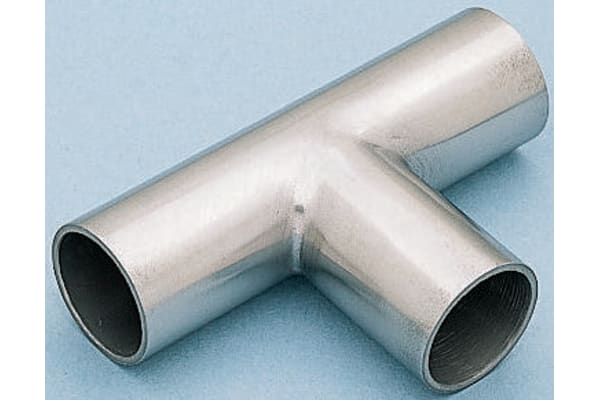 Product image for 316L s/steel plain equal tee,1 1/2in OD
