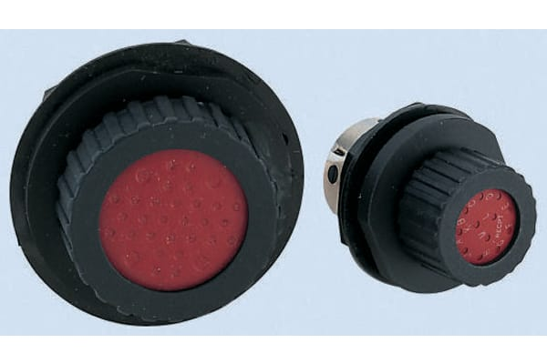 Product image for 0-12 WAY JAM NUT CHASSIS PLUG,13A/30A