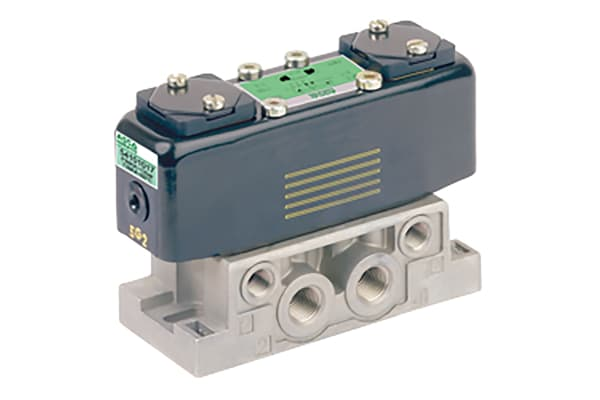Product image for EMERSON – ASCO 5/2 Pneumatic Control Valve - Solenoid/Pilot 541 Series 115 V ac, 230 V ac, 24 V ac/dc, 48 V ac/dc