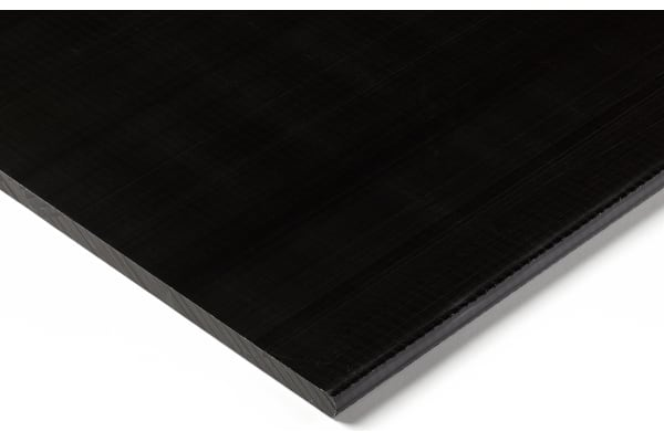 Product image for Black acetal sheet stock,500x300x40mm