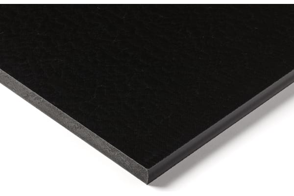Product image for Black nylon 6 sheet stock,500x300x10mm