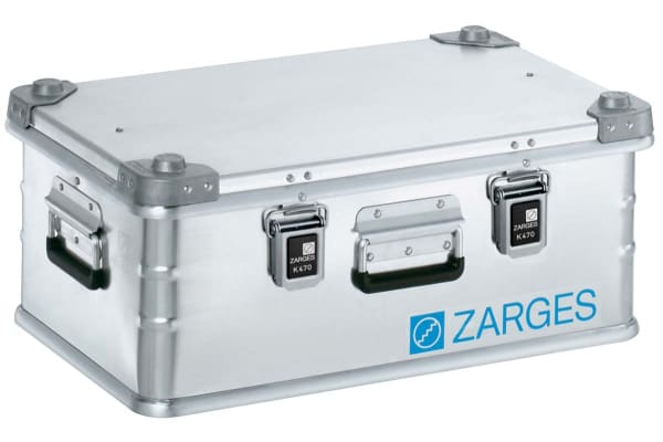 Product image for Zarges K 470 Waterproof Metal Equipment case, 250 x 600 x 400mm