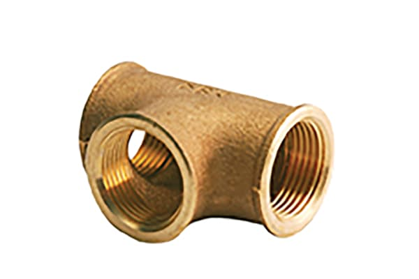 Product image for Bronze equal tee,1in BSPP F all ends