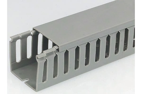Product image for Slotted trunking standard 8mm 40Wx40H 1m