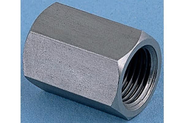 Product image for Legris Stainless Steel Hexagon Straight Coupler 3/8in G(P) Female x 3/8in G(P) Female