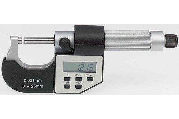 Product image for Digital External Micrometer,0-25mm/0-1in