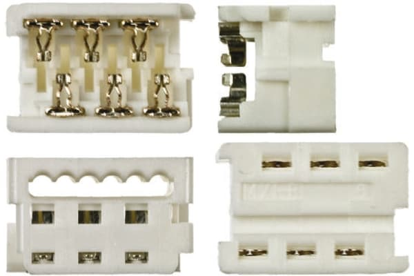 Product image for 6 way IDT housing,1.27mm pitch