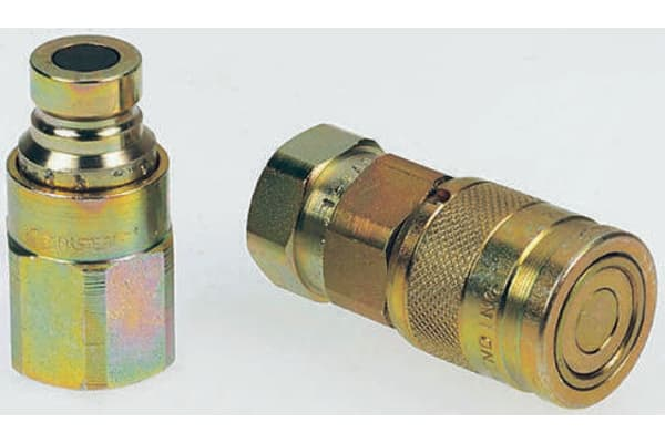 Product image for 1/2in BSP male tip flat face coupler