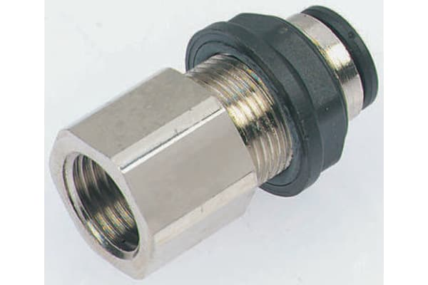Product image for Female bulkhead push-in conn,G3/8x10mm