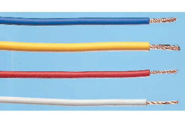 Product image for WIRE AWG22 YELLOW