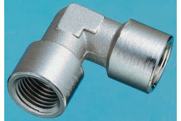 Product image for Female BSPP elbow connector,G1/8xG1/8
