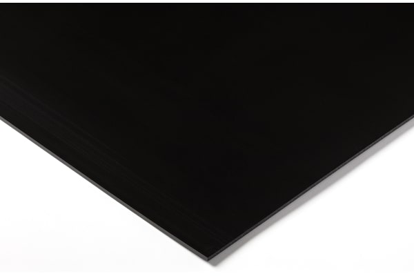 Product image for Black polyethylene sheet,1000x500x3mm