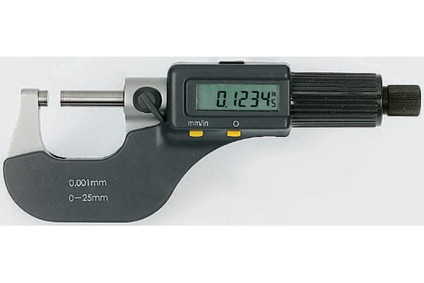 Product image for External Digital Micrometer,0-25mm/0-1in