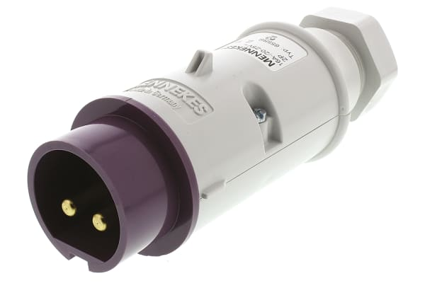 Product image for 2P GLANDED ENTRY FREE PLUG,16A 20-25V