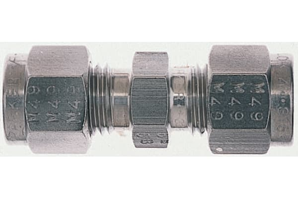 Product image for S/steel tube to tube union,1/4in OD