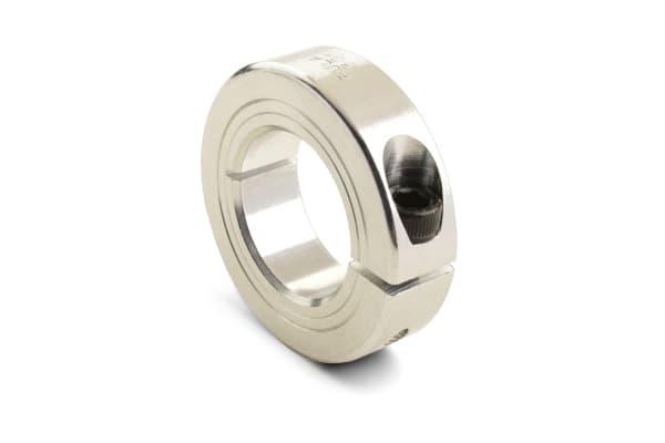 Product image for ALUMINIUM 1 PIECE CLAMP COLLAR,8MM BORE