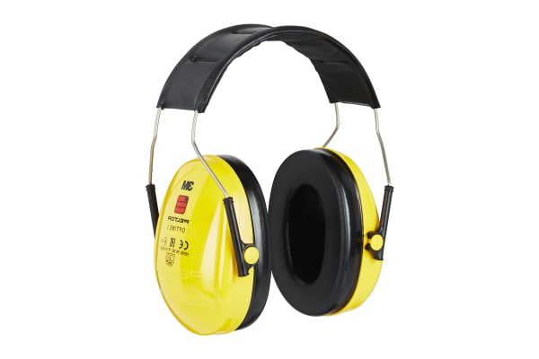 Product image for 3M PELTOR Optime I Ear Defender with Headband, 27dB, Yellow