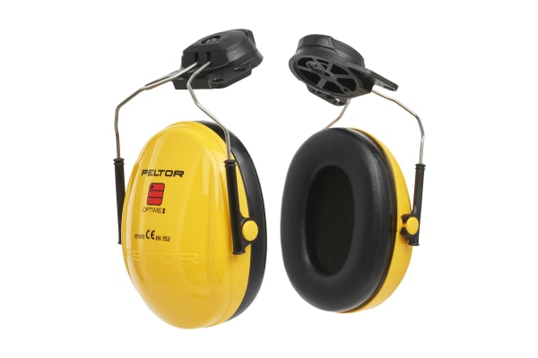 Product image for 3M PELTOR Optime I Ear Defender with Helmet Attachment, 26dB, Yellow