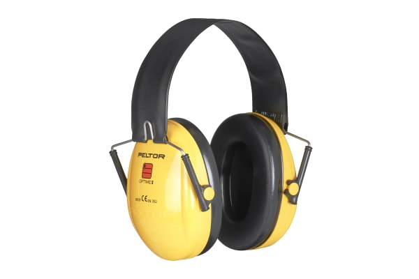 Product image for 3M PELTOR Optime I Ear Defender with Headband, 28dB, Yellow