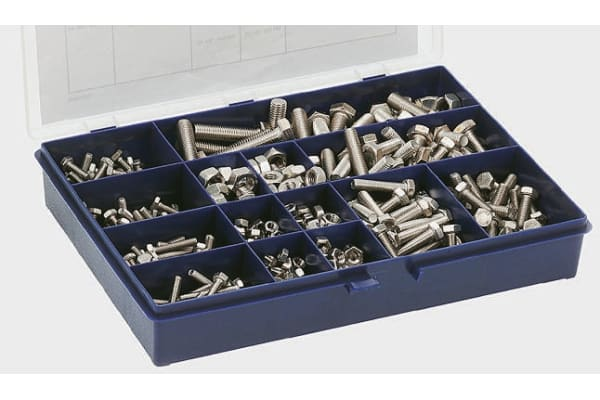 Product image for A2 s/steel hexagon setscrew and nut kit