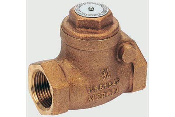 Product image for PN25 bronze check valve 1in BSPT