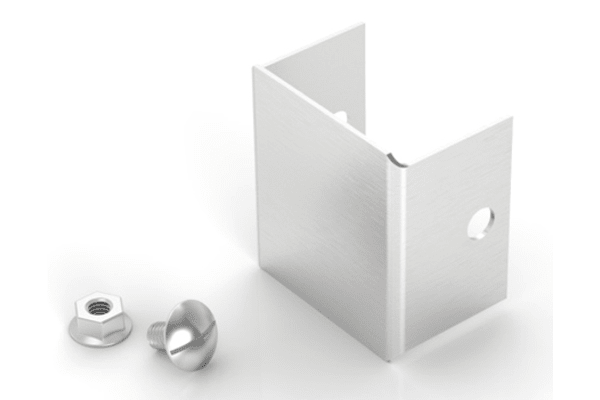 Product image for Stainless steel end cap,50x50mm