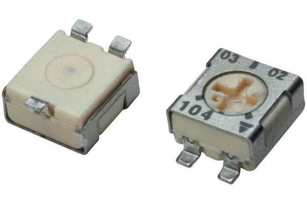 Product image for YL SMT 1-turn cermet trimmer,10K 0.2W