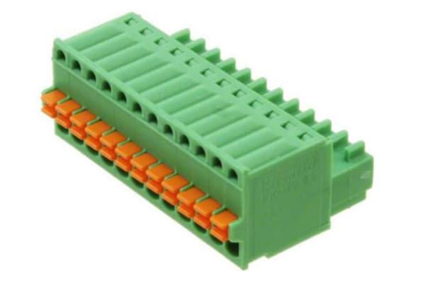 Product image for 12WAY SPRING TERMINAL,8A 2.5MM PITCH