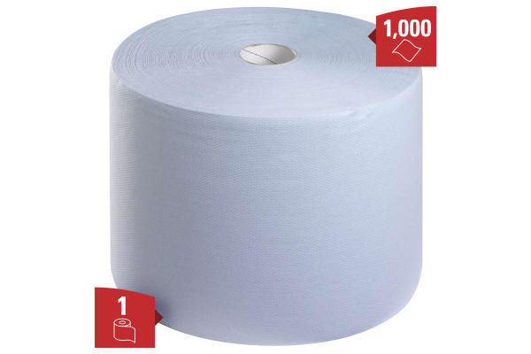 Product image for Kimberly Clark Dry Cleaning Wipes for Light Duty Cleaning Use, Roll of 1000