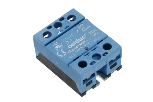 Product image for Celduc 90 A Solid State Relay, Zero Crossing, Panel Mount, Triac, 600 V rms Maximum Load