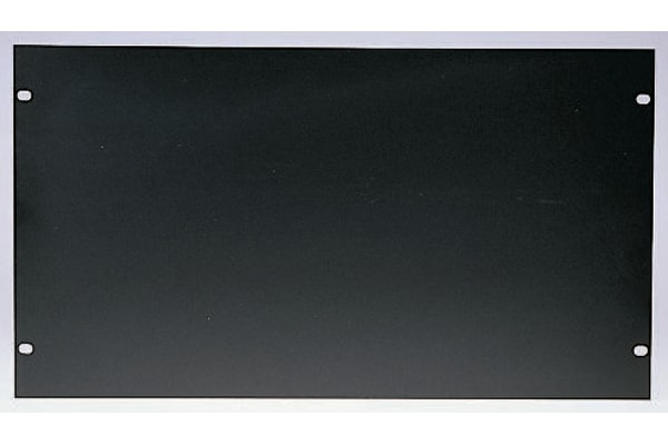 Product image for Black finish 19in front panel,483x222mm