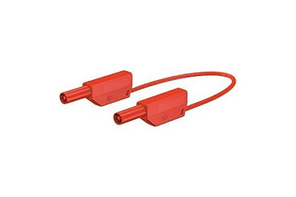 Product image for 4MM LEAD, 15A RED