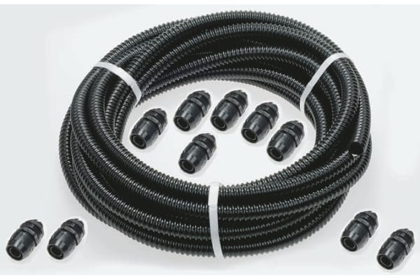 Product image for Blk spiral IP67 contractor pack, 20mm
