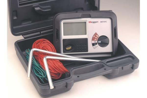 Product image for Megger DET3TC Earth Tester 2kΩ CAT IV 100 V