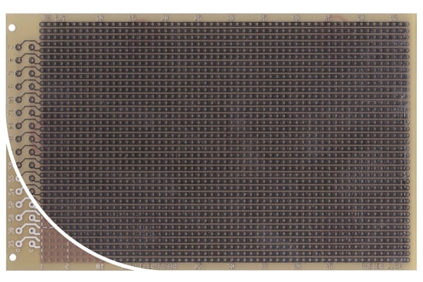 Product image for 1 SIDED DIN STRIPBOARD FR4,160X100MM