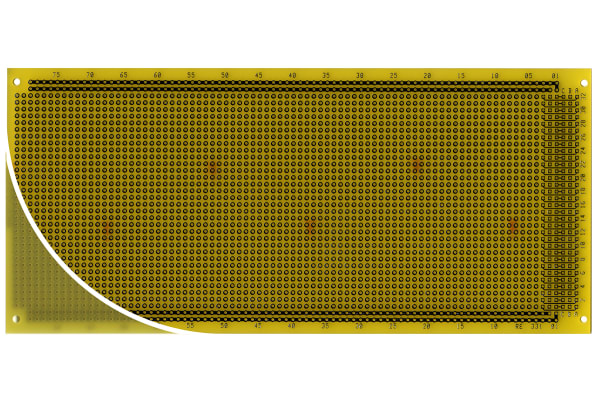 Product image for PROTOTYPING BOARD FR4 DIN TYPE RE331-LF