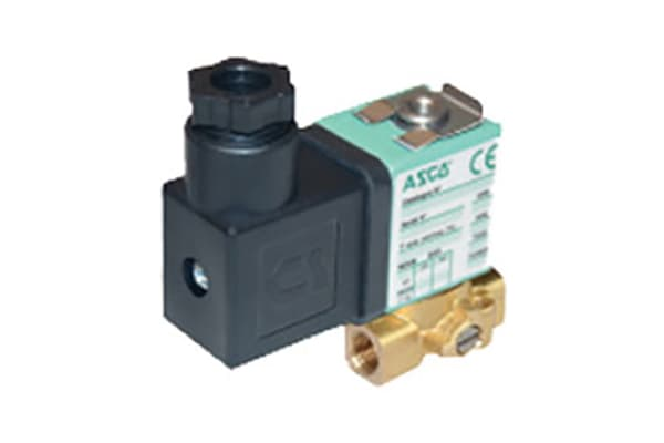 Product image for EMERSON – ASCO Solenoid Valve SCG356B002VMS.230/50, 3 port , NC, 230 V ac, 1/8in