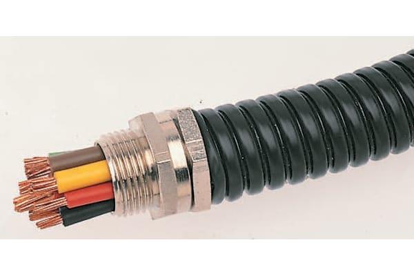 Product image for Adaptaflex SP PVC Coated Galvanised Steel Flexible Conduit Black 25mm x 10m M25