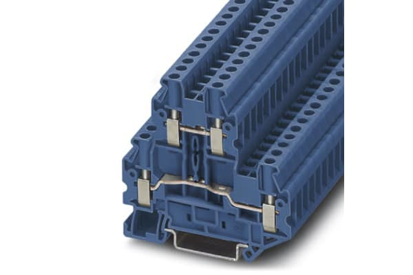 Product image for DOUBLE LEVEL TERMINAL BLOCK - 4MM
