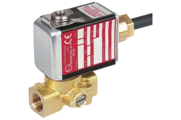 Product image for EMERSON – ASCO Solenoid Valve PV G256A002 V MS 24VCC, 2 port , NC, 24 V dc, 1/8in