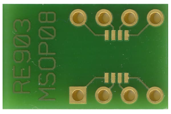 Product image for MSOP-8 SMD ADAPTOR BOARD, FR4 RE903