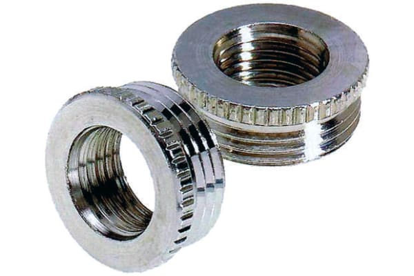 Product image for Nickel Plated Brass reducer  M16 to M12