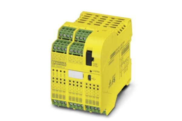 Product image for Phoenix Contact PSR-TRISAFE PSR-SCP- 24DC/TS/S Series Safety Controller, 20 Safety Inputs, 6 Safety Outputs, 24 V dc