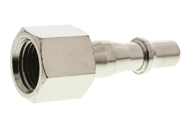 Product image for RS PRO Pneumatic Quick Connect Coupling Brass 1/4 in Threaded