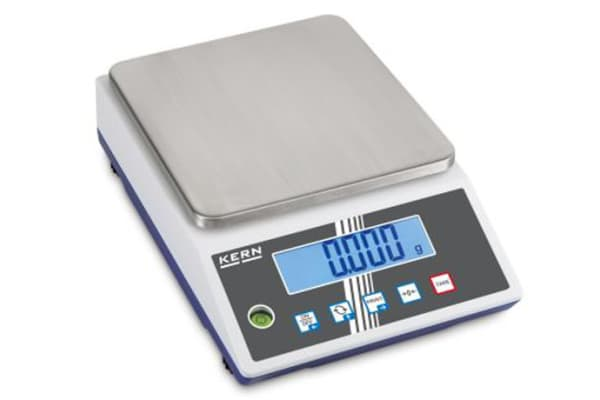 Product image for Kern Weighing Scale, 10kg Weight Capacity Type B - North American 3-pin, Type C - European Plug, Type G - British 3-pin
