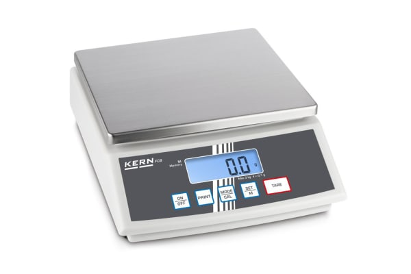 Product image for Kern Weighing Scale, 3kg Weight Capacity Type B - North American 3-pin, Type C - European Plug, Type G - British 3-pin