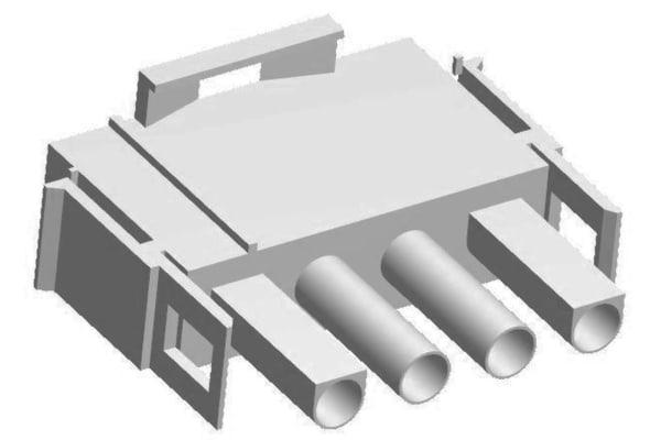 Product image for Housing plug 2.13mm MLX,4w,UL94V-0