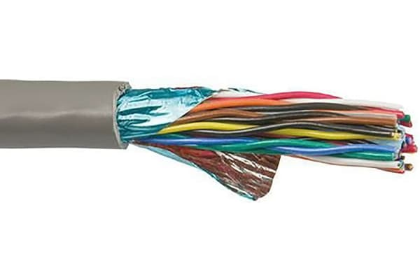 Product image for Cable 24AWG 7/32 7PR Foil Shield