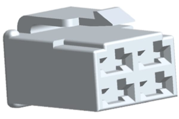 Product image for Housing, plug, 4 way, 250 lance, natural